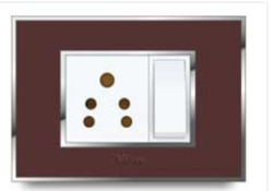 Glasso Plate Real Glass Finish Electrical Switch