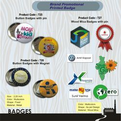 Promotional Button Badges - Printed Pin Badges