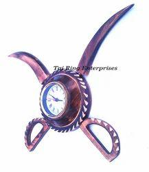Wooden Sword Clock