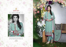 Georgette Designer Embroidery Suit