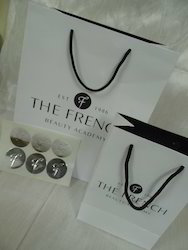 Custom Logo Printed Paper Bags With Embossed Stickers