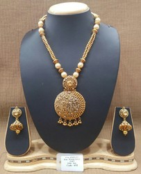Antique Designer Gold Mala Pendant Set