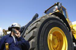 JCB Loader Solid Resilient Tyres