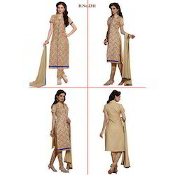 Beige Embroidered Suit