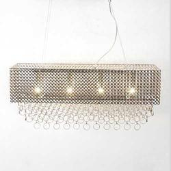 Rectangular Chrome Wall Lamp