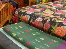 Vintage Bedding Throw Kantha
