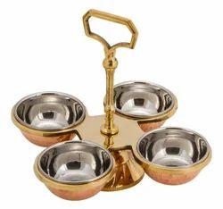 Pickle Set- Copper Brass - 4 Bowls