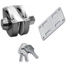 Wall To Glass Lock With Key And Knob