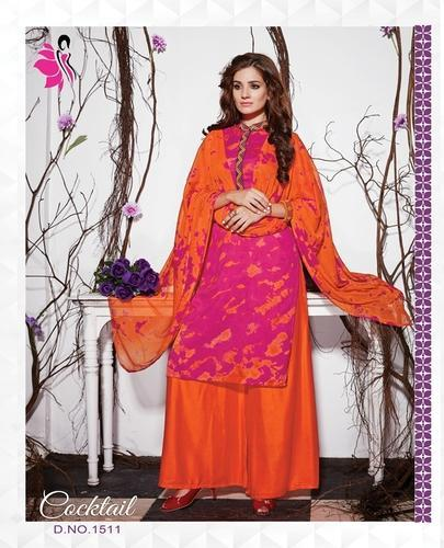 Embroidery Cotton Plazo Suit