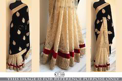 Fancy Designer Embroidered Lehenga Saree