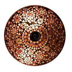 Amber Mosaic Ceiling Lamp