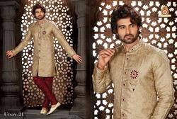 Designer Men's Unstitch Heavy Sherwani .