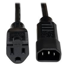 DAKSH PC C14 to C15 18AWG 10AMP 3M Power Cord