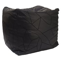 Square Leather Bean Bag
