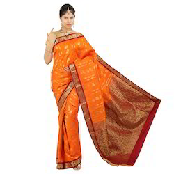 Embose Contrast Fancy Buttas Sarees