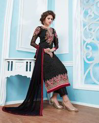 Designer Black Georgette Suit