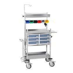 Crash Cart Trolley Stainless Steel
