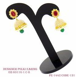 Designer Polki Earrings