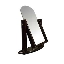 mirror on stand. sunglasses wooden mirror stand on