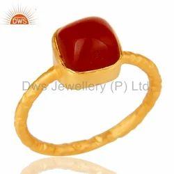 Red Onyx Gemstone Handmade Ring Jewelry