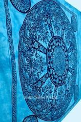 Indian Tapestry Mandala Tapestry One Elephant Printed Cotton