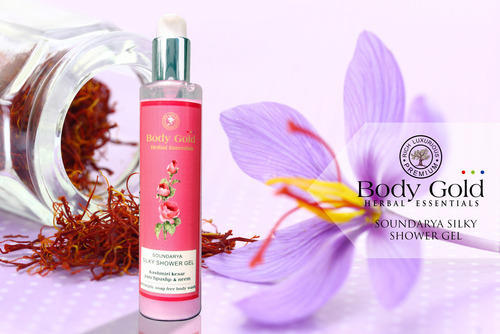 Luxurious Herbal Silky Shower Gel Kashmiri Kesar Panchpushp