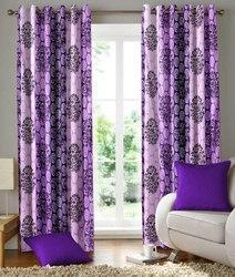 readymade purple printed door window curtains