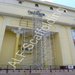 Aluminum Scaffolding with Additional Support
