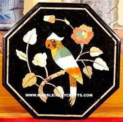 Octagonal Marble Inlay Wall Panel