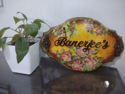 Decoupage Customized Name Plates Customized Hand Crafted Lamasa
