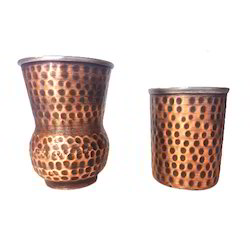 Smokey Finished Copper Mutki & Amarpali Glass