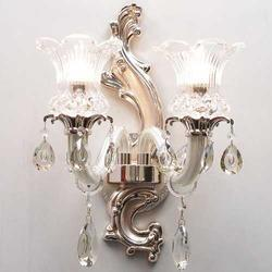 Pearl Glass Double Uplighter Wall Sconce