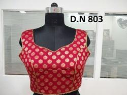 Red Banarasi Brocade Stitched Blouse