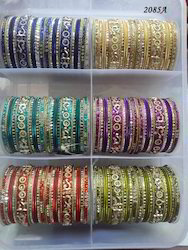 Stone Studded Colored Bangles