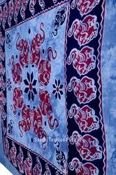 Indian Tapestry Four Round Elephant Printed Bed Spreads