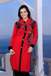 Red Fancy Kurtis
