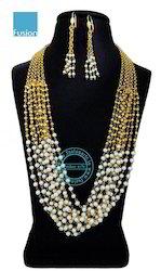 Pearl Beaded Necklace Mala Set