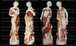 Four Season Lady Statues in Italian Marble