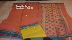 Super Net Cotton Saree