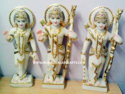 Beautiful Marble Ram Darbar Statue