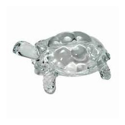 Shiny, Clean & Clear Glass Tortoise For Gift Purpose