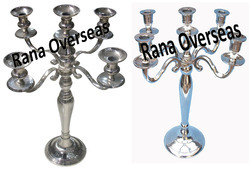 Aluminium Nickle Plated Candle stands