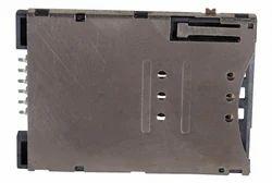 6 Pin Push Full Metal Cover Sim Card Holder