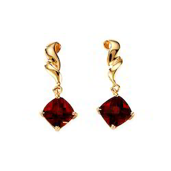 Gold Ruby Earrings Amazoncom