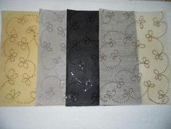 Non Woven Sequin  Embroidered Chiffon Wool Papers