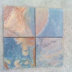 Blue Pink Slate Stones Tiles