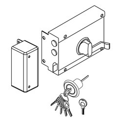 Night Latch Lock - Surface Mounted for Inside Opening Doors