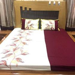 Cotton Embroidered Bed Sheets