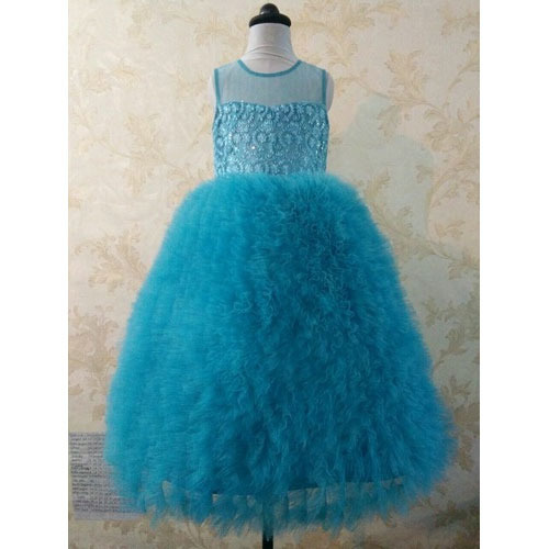 Wedding Gown - Aqua Princess Feather Style Wedding Dress ...