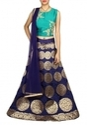 Designer Mint Green and Navy Blue Chaniya Choli